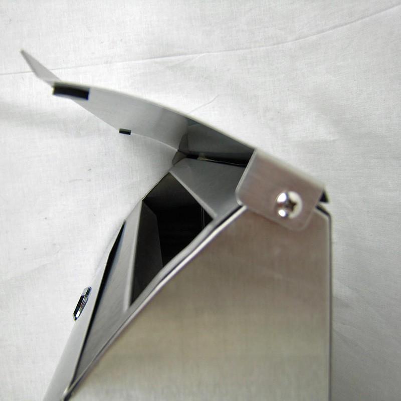 briefkasten aus edelstahl mit sichtfenster und zeitungsrollein modernem design m ebay. Black Bedroom Furniture Sets. Home Design Ideas