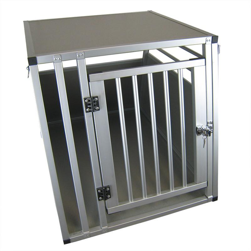 xxl hundebox transportbox aluminium 92 x 65 x 66cm. Black Bedroom Furniture Sets. Home Design Ideas