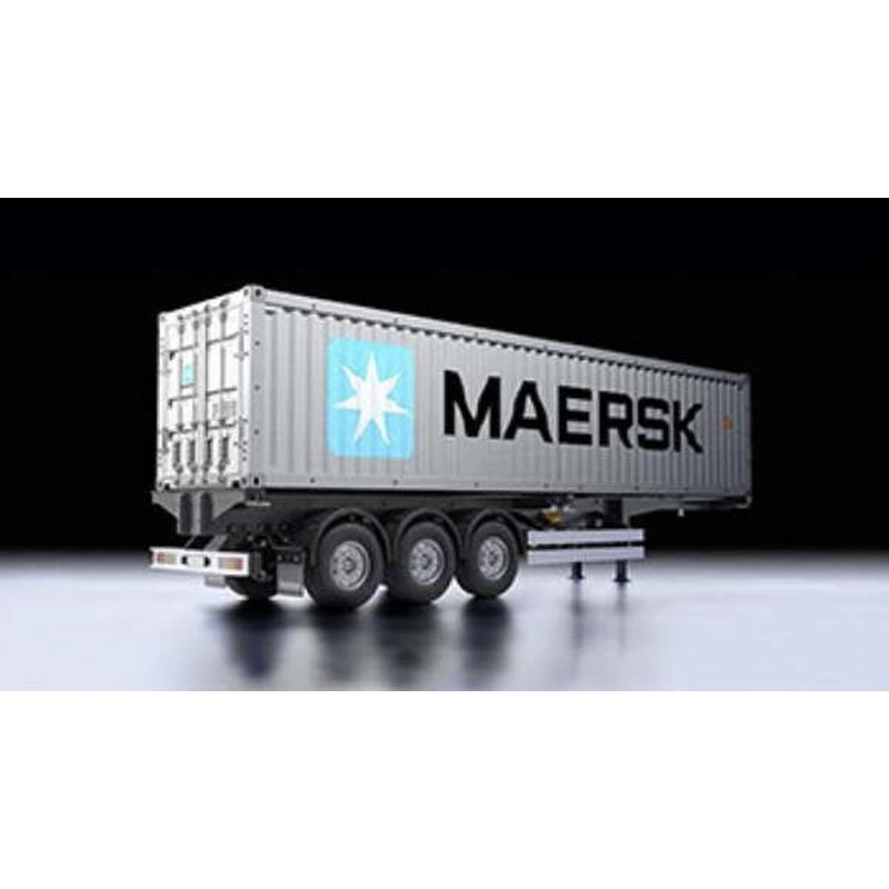 tamiya 40 fu container auflieger maersk 56326 ebay. Black Bedroom Furniture Sets. Home Design Ideas