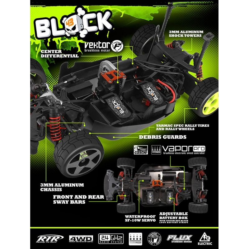 hpi 1 8 wr8 flux ken block ford fiesta h f h v h109314 elektroauto ebay. Black Bedroom Furniture Sets. Home Design Ideas