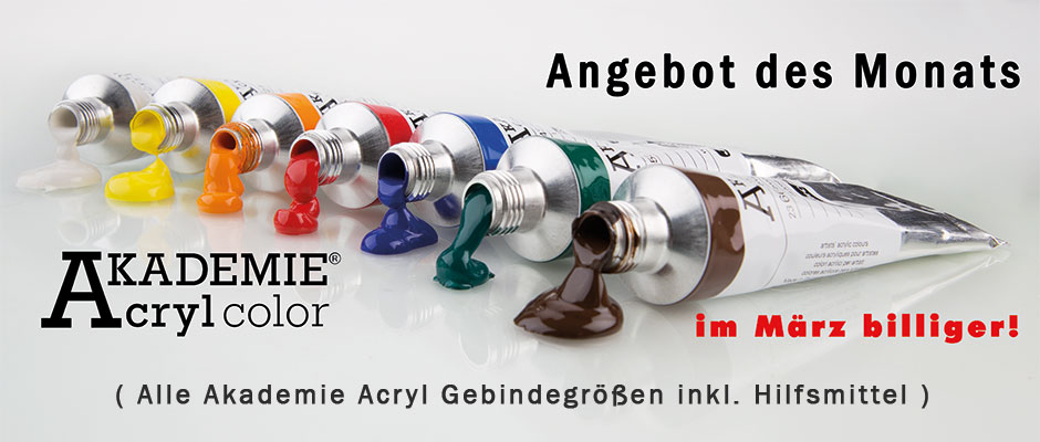 Schmincke Akademie Acryl März Rabatt