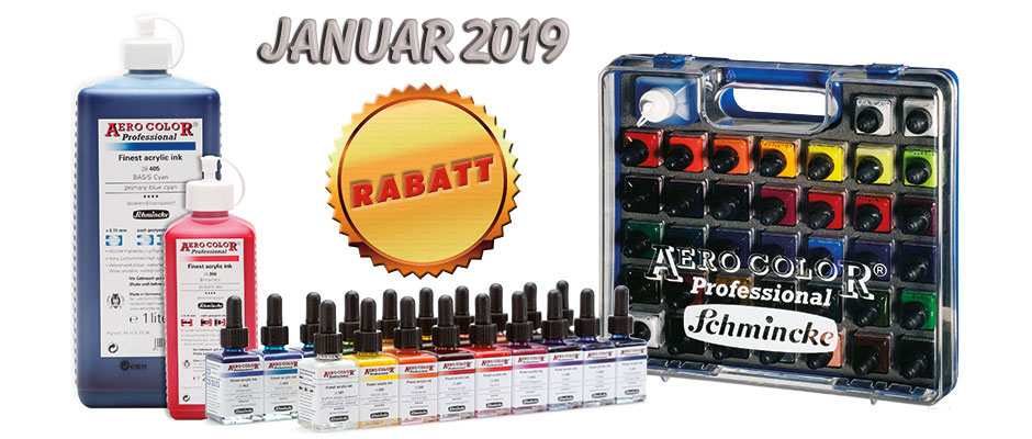 Neujahrs Rabatt alle Aerocolor Farben billiger