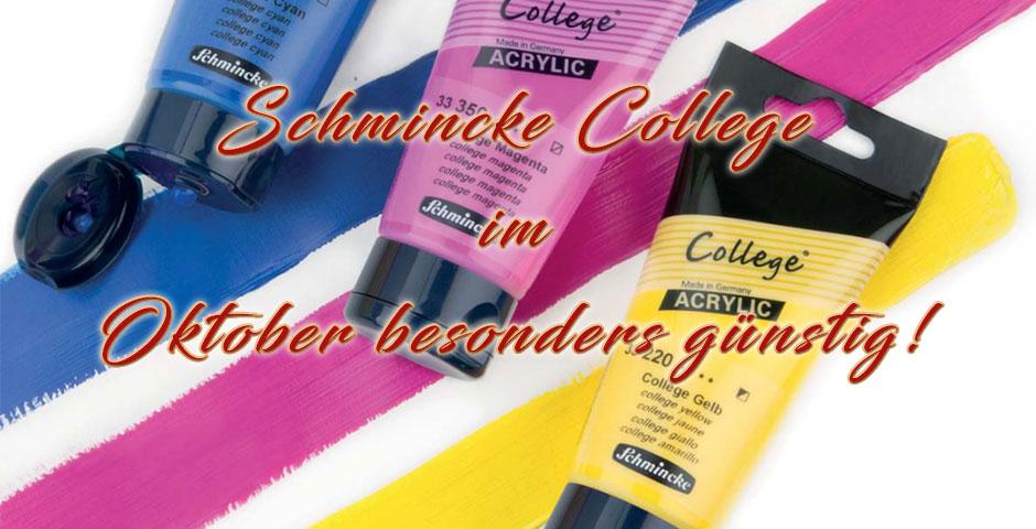 Schmincke College im Oktober günstiger