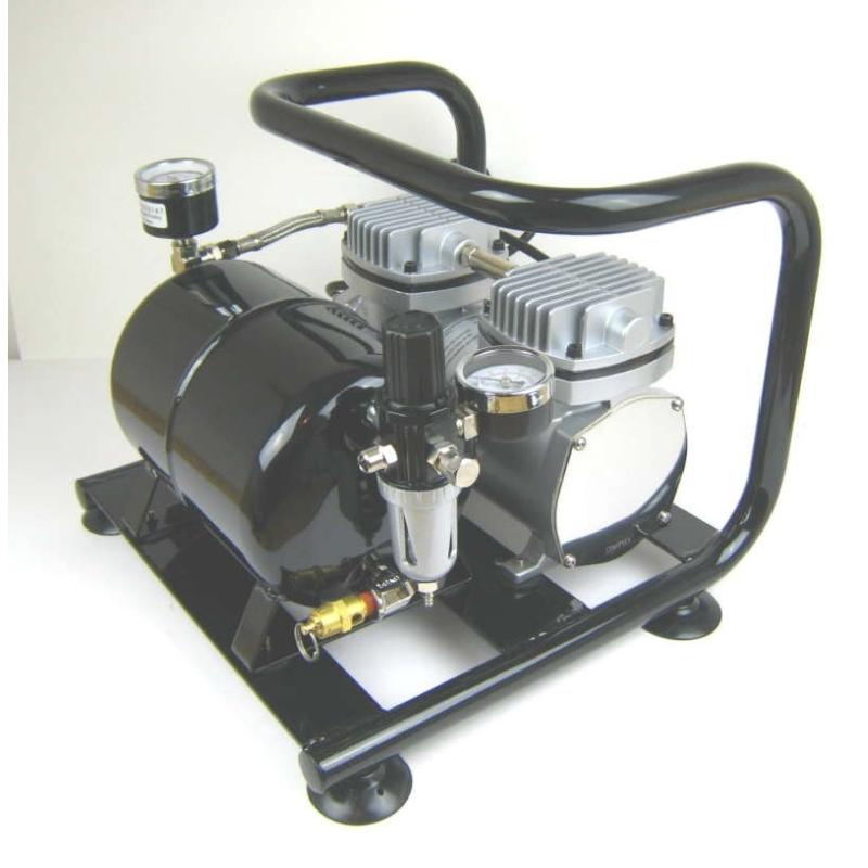 sparmax ac 500 airbrush kompressor mit tank ebay. Black Bedroom Furniture Sets. Home Design Ideas