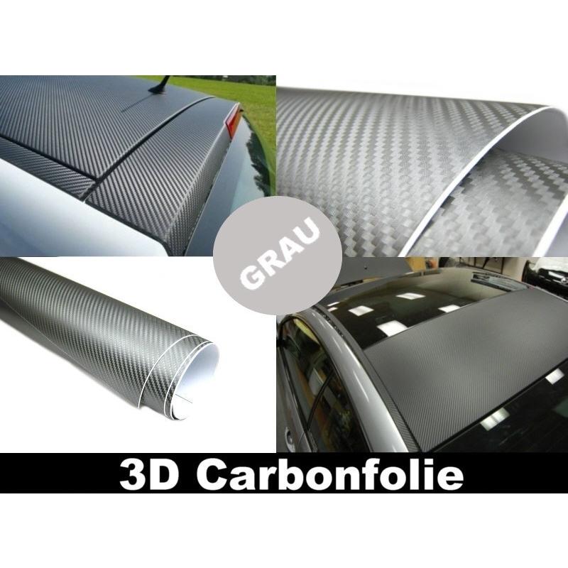 3d carbon folie grau 500x152cm flexibel selbstklebend carbonfolie 5m. Black Bedroom Furniture Sets. Home Design Ideas
